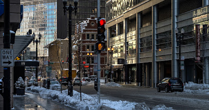 Photo: Chicago after a lot of snow. #chicago #urbanphotography