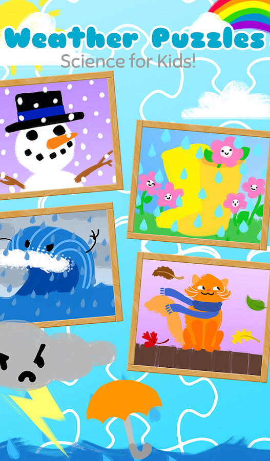Weather Puzzles for Kids- screenshot