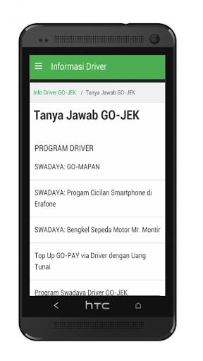 Info Driver Gojek screenshot 1