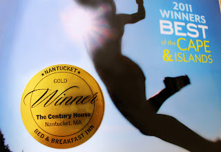 Photo: Best Bed and Breakfast Inn on Nantucket, Gold Winner, 2011 Best of Cape & Islands, Cape Cod Life www.centuryhouse.com