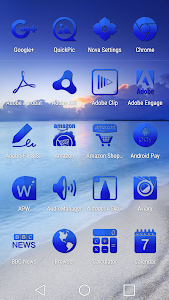 Tap Blue - Icon Pack screenshot 1