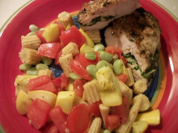 Pepper Jack Chicken With Succotash Recipe