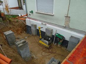 """Photo: unsere """" Türmchen"""" fürs Fundament wurden erhöht"""