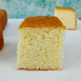 White Chocolate Sponge Cake.