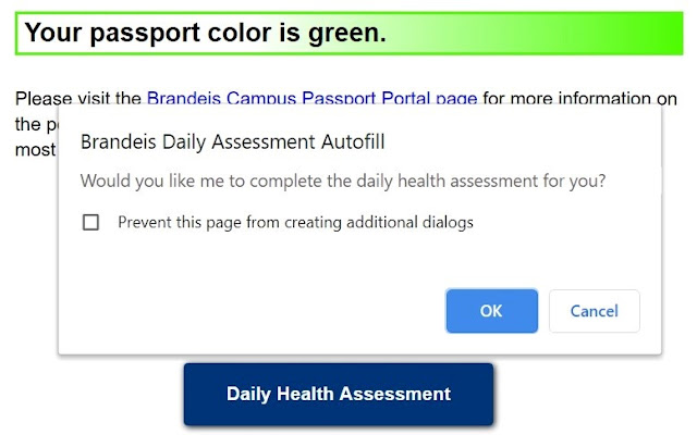 Brandeis Daily Health Assessment Autofill