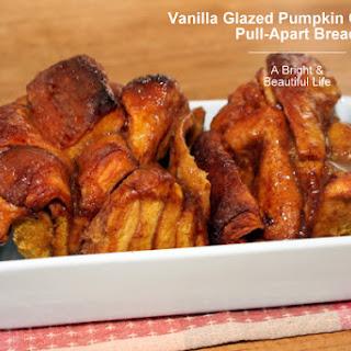 Vanilla Glazed Pumpkin Cinnamon Pull-Apart Bread
