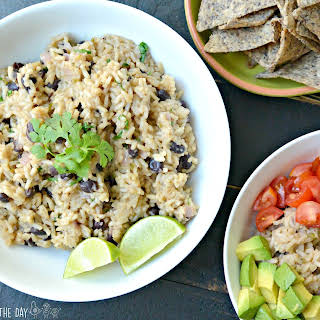 Cilantro Lime Rice and Black Beans.