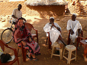 Photo: sipping tea with chief Mohammad Rahal and his brother