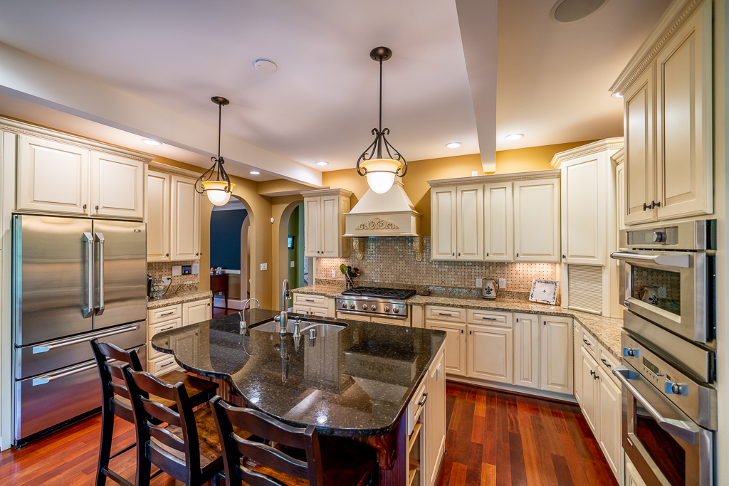 A shot of the amazing kitchen at 1700 Evergreen Rd.