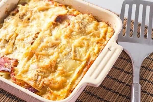 Bacon And Egg Lasagna