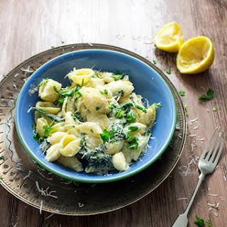 Spinach Sour Cream Pasta Recipes.