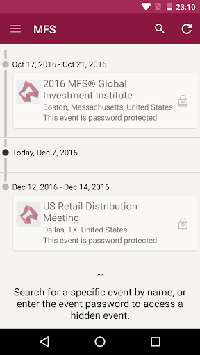 MFS Events Tracker