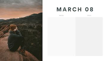 Sunset Daily - Daily Calendar template