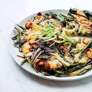 Green Bean and Scallion Pancake