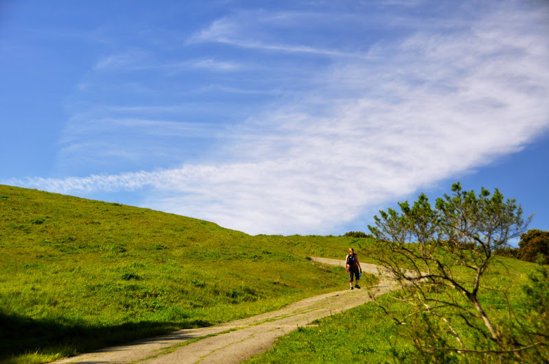 Photo: Kate Heading Up The Steep Rocky Ridge Trail