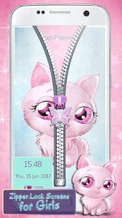 Zipper Lock Screens for Girls - náhled