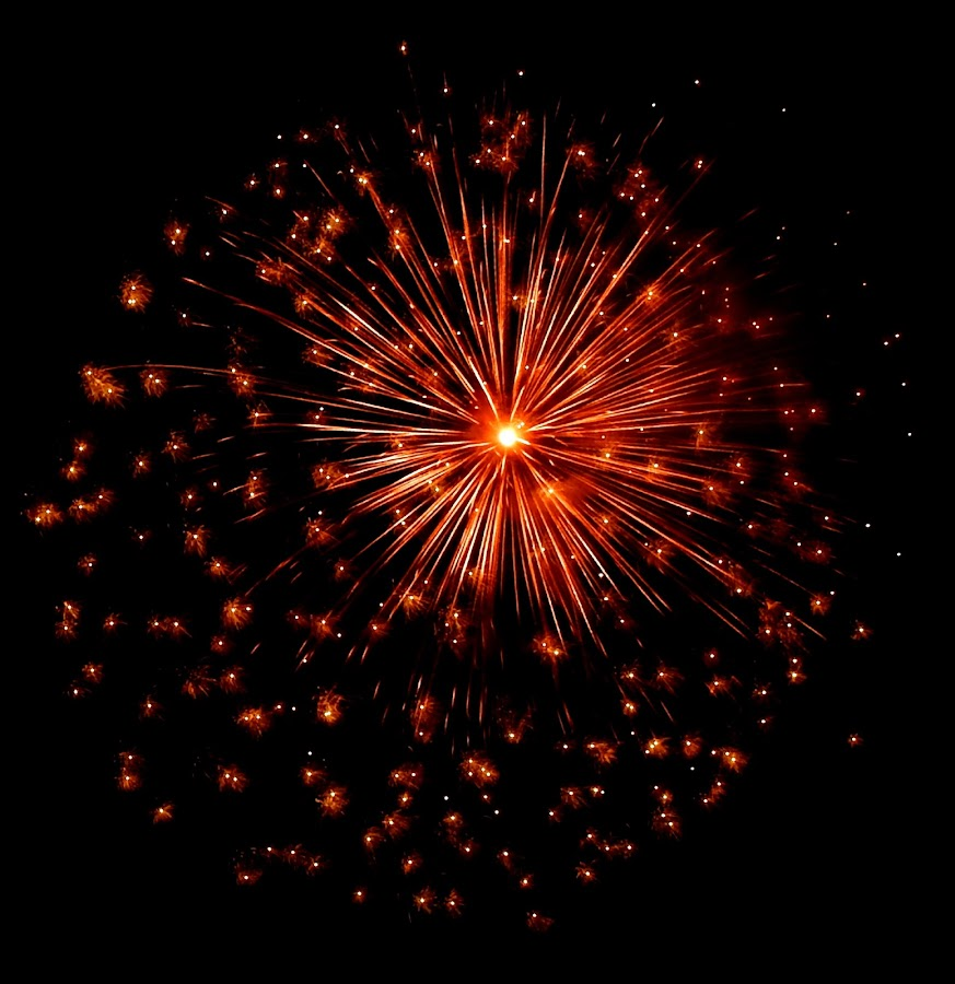 red fireworks by Patrizia Emiliani - Abstract Fire & Fireworks ( red, fireworks,  )