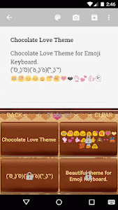 Chocolate Love Emoji Keyboard screenshot 3