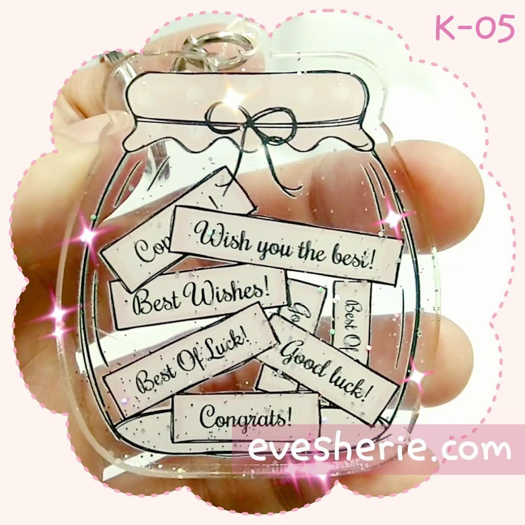 พวงกุญแจ โชคดี คำอวยพร cute bless blessing keychain