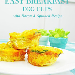 Easy Breakfast Egg Cups with Bacon and Spinach.