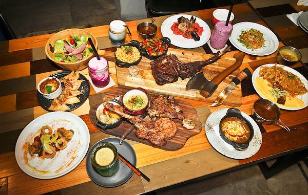 棧F-U Kitchen直火廚房-戰斧專門店,中山站吃肉聚餐首選,56 盎司超強戰斧牛排一定要試