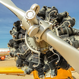 Piper Engine by Richard Michael Lingo - Artistic Objects Other Objects ( artistic objects, plane, engine, arizona, airplane )