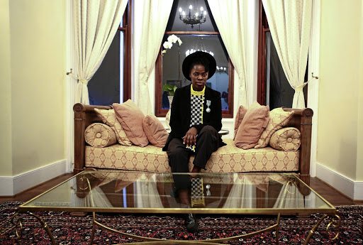 French kudos: Visual activist Zanele Muholi's journey as photographer started at the Market Photo Workshop, founded by David Goldblatt. She has been awarded the Knight of the Order of Arts and Letters by France's ambassador to SA, Christophe Farnaud, in Pretoria. Picture: PHILL MAGAKOE