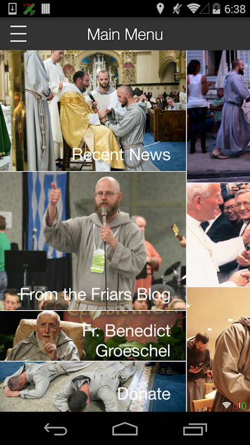 Franciscan Friars of Renewal- screenshot