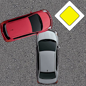 Driver Test Trainer : crossroads, signs, rules.