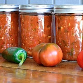 Sweet Smokey Zucchini Salsa {ReluctantEntertainer.com}