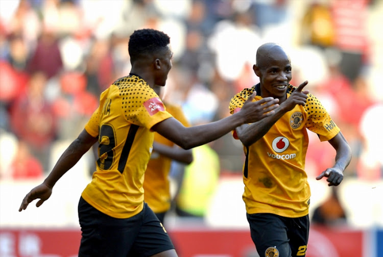 Joseph Molangoane of Kaizer Chiefs celebrate after scoring a goal during the Absa Premiership match between Ajax Cape Town and Kaizer Chiefs at Cape Town Stadium on May 12, 2018 in Cape Town, South Africa.