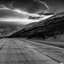 Road by Fabienne Lawrence - Uncategorized All Uncategorized ( landscape photography, road, black and white, landscape )