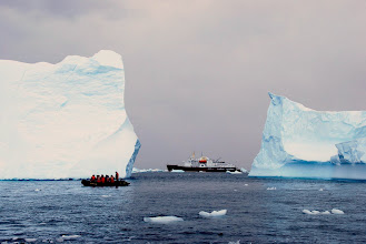 Photo: The zodiac, Polar Star and iceberg.... (taken by member of crew)
