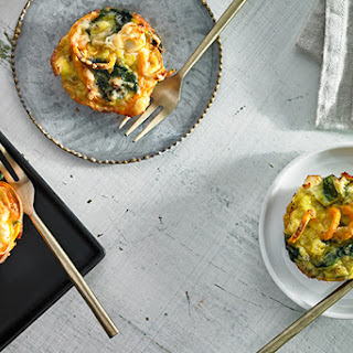 Mini Sweet Potato and Spinach Frittatas.