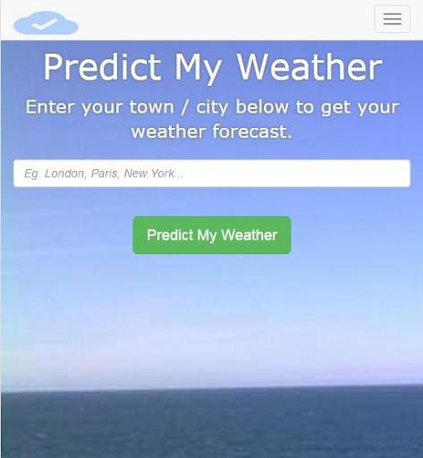 Predict My Weather