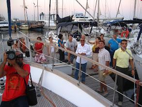 Photo: Sancaktan uğurlayanlar.  Farewell on the starboard side.