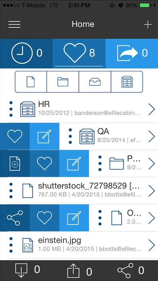 eFileCabinet- screenshot