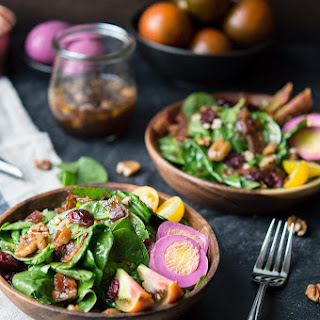 Spinach Salad with Maple Bacon Vinaigrette