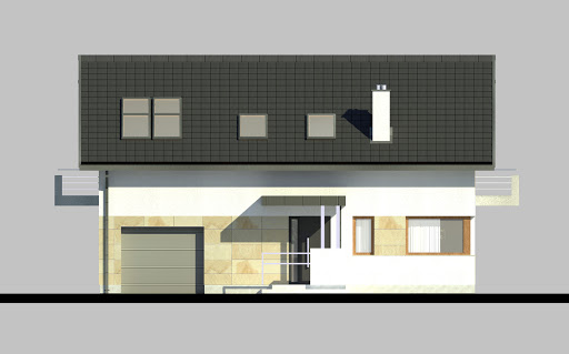LIM House 07 - Elewacja przednia