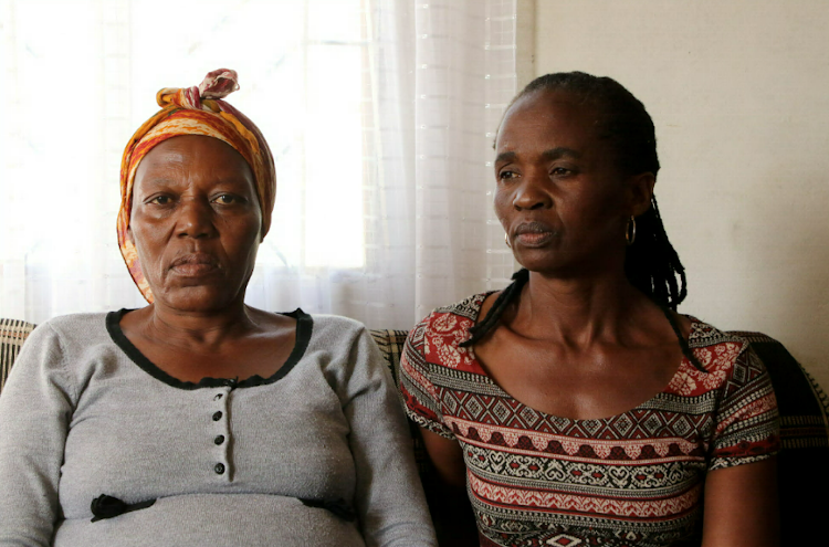 Maude Sifani and Funiwe Makeleni say they were assaulted by two men.