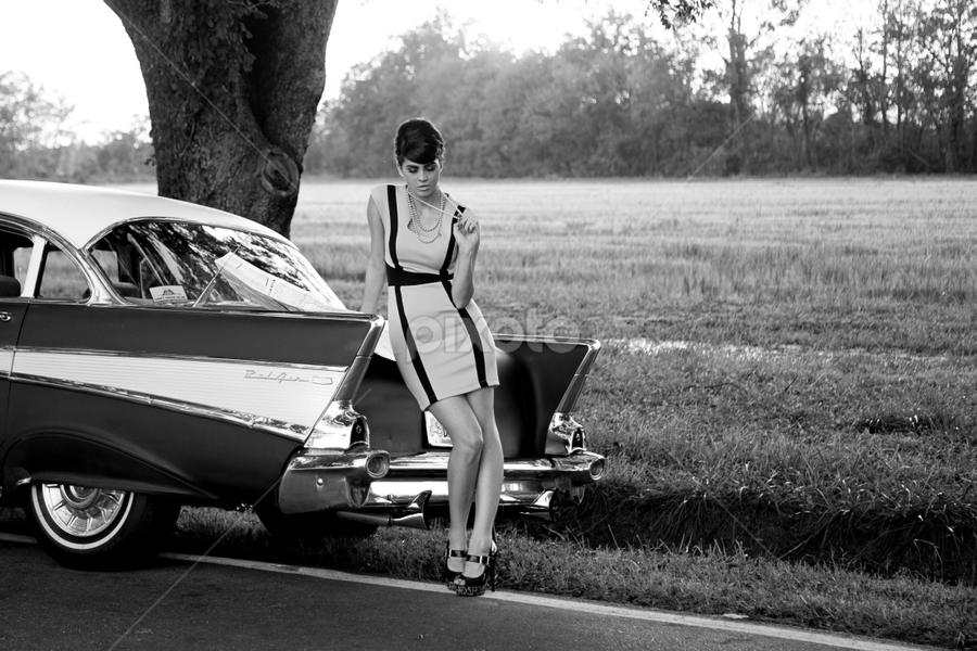 by Ken Gehring - People Fashion ( car, model, fashion, vintage, beauty, chevy )