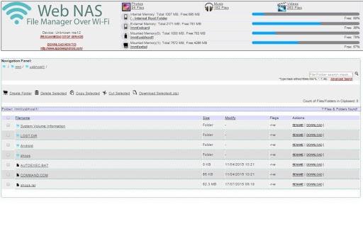 Wireless Data Explorer WebNAS