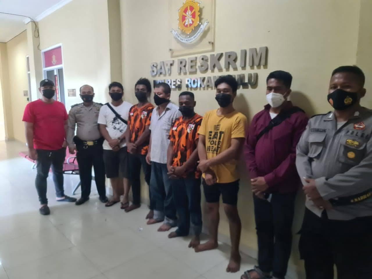 Kepolisian Resort Rohul Amankan 22 Orang, Tetapkan 6 Tersangka Perusakan Kantor IPK Di Mahato