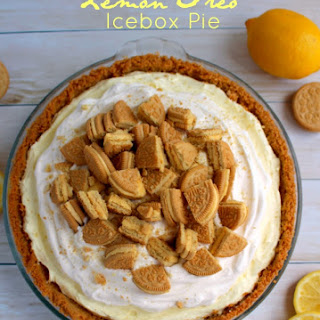 Lemon Oreo Icebox Pie.