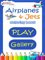 Screenshot of Airplanes Jets Coloring Book