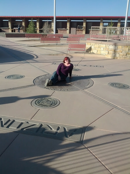Photo: Sitting in four states at the same time!