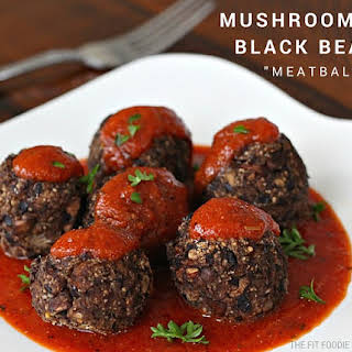 "Mushroom and Black Bean ""Meatballs"" {Gluten Free}."