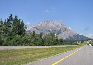 Photo: Driving through the Rocky Mountains to Jasper from Calgary.