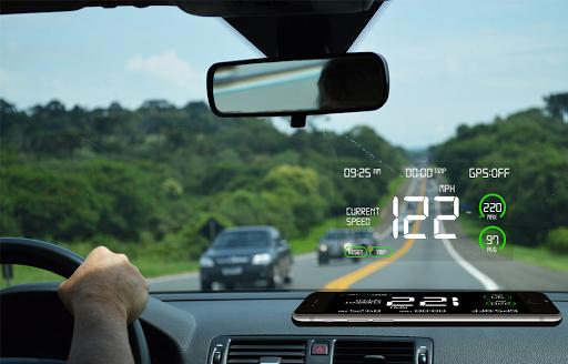 GPS Speedometer: HUD Digi Distance Meter screenshot 1