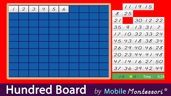 Montessori Hundred Board 1-100- screenshot thumbnail